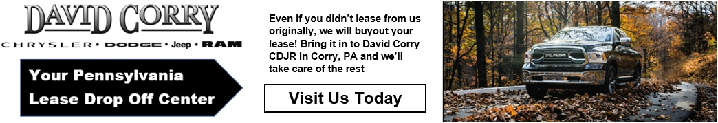 David Corry Lease Drop Off Banner