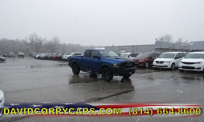 New 2019 Ram 1500 CLASSIC WARLOCK QUAD CAB 4X4 6'4 BOX Quad Cab for sale in Corry, PA at DAVID Corry Chrysler Dodge Jeep Ram