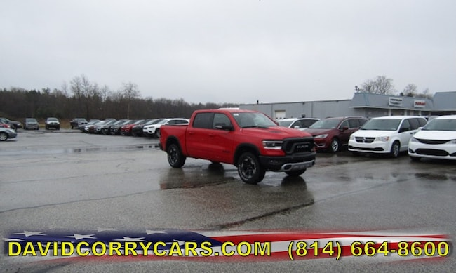 New 2019 Ram 1500 REBEL CREW CAB 4X4 5'7 BOX Crew Cab for sale in Corry, PA at DAVID Corry Chrysler Dodge Jeep Ram