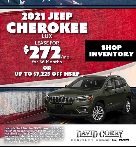 2021 Jeep Cherokee Lux January