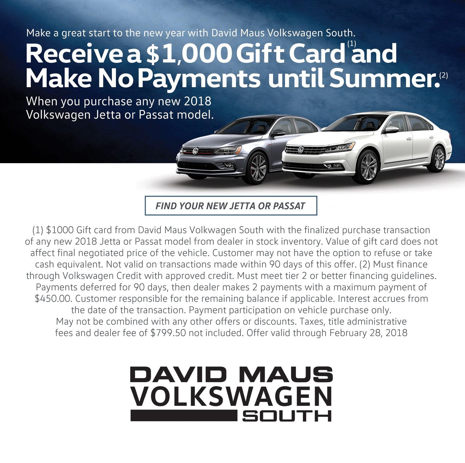 Find Your New Jetta Or Passat David Maus Volkswagen South