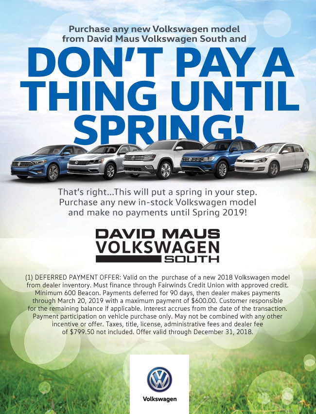 deferred payments david maus volkswagen south