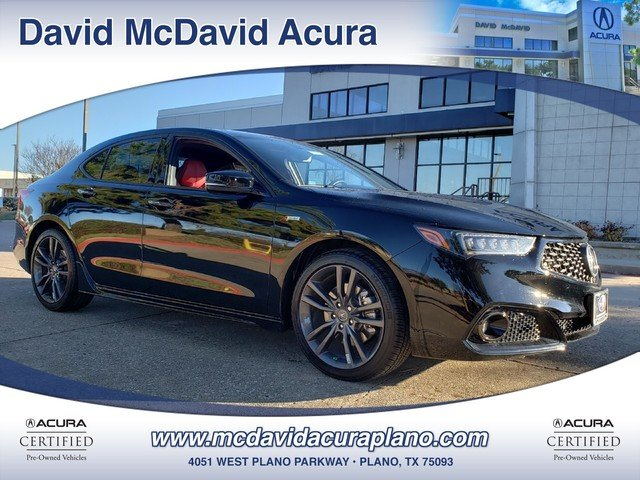 2019 Acura TLX w/A-SPEC Pkg Red Leather Sedan