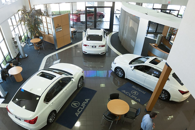 David McDavid Acura in Plano - Showroom