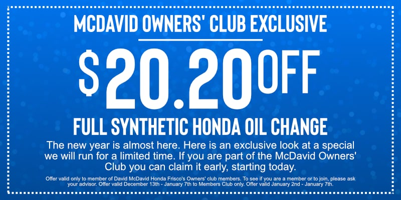 Members Only Oil Change