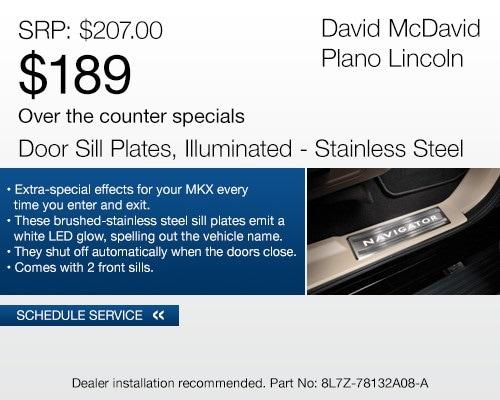 Vehicle Parts Specials   David McDavid Plano Lincoln