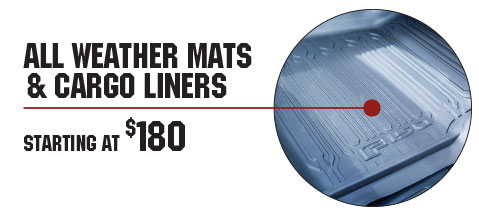 All Weather Mats & Cargo Liners Starting At $180