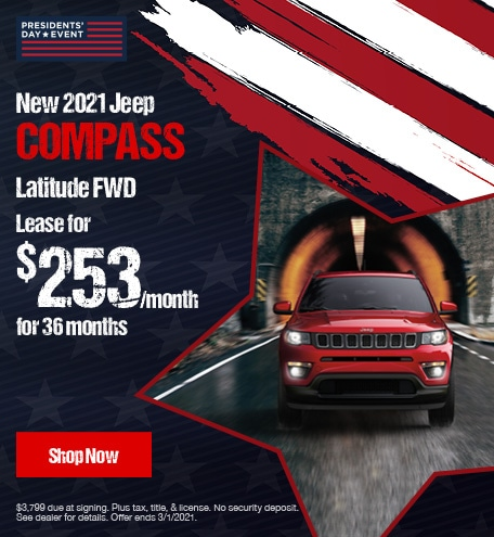 New 2021 Jeep Compass Latitude FWD- February Lease Offer