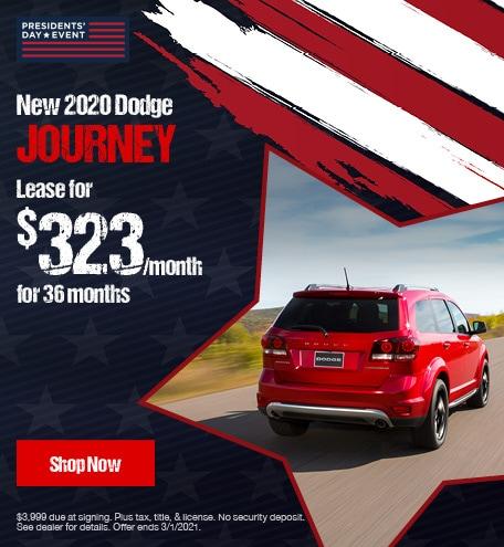New 2020 Dodge Journey- February Lease Offer