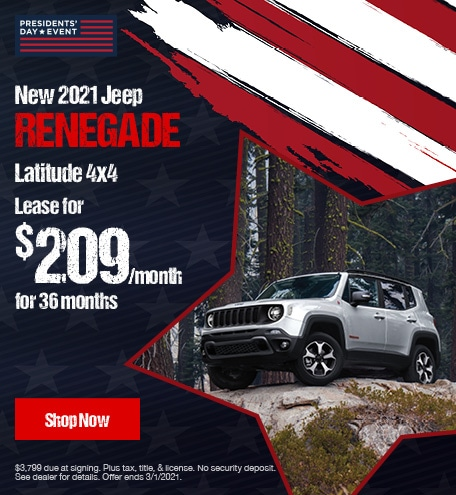 New 2021 Jeep Renegade Latitude 4x4- February Lease Offer