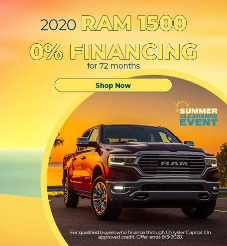 0% Financing for 72 months on 2020 RAM 1500
