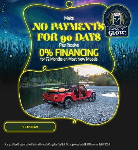No Payments for 90 Days - September Offer