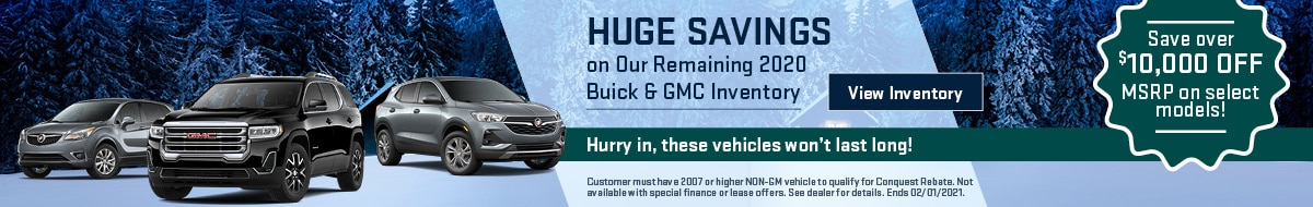 Huge Savings on Our Remaining 2020 Buick & GMC Inventory