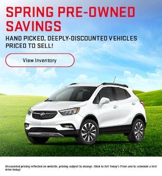 Spring Pre-Owned Savings