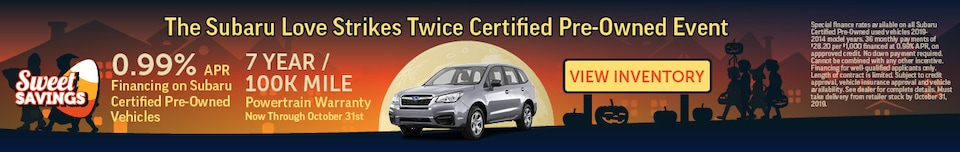 The Subaru Love Strikes Twice Certified Pre-Owned Event