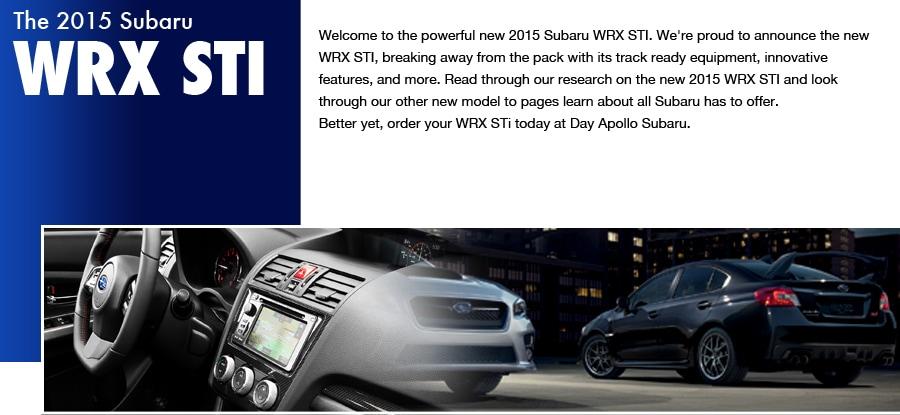 New 2015 Subaru Impreza WRX STI Details & Specifications ...