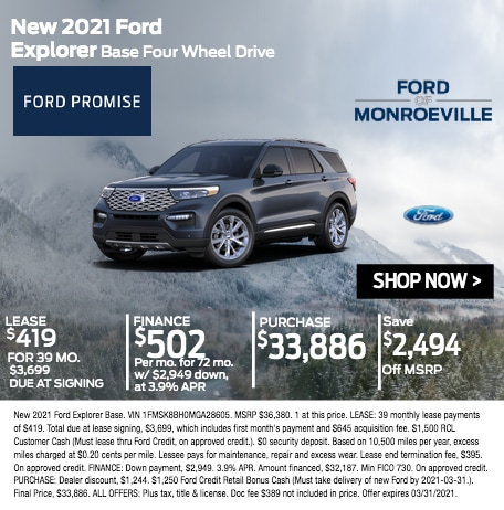 New 2021 Ford Explorer Base