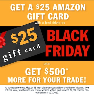 Get a $25 Amazon Gift Card With a Test Drive