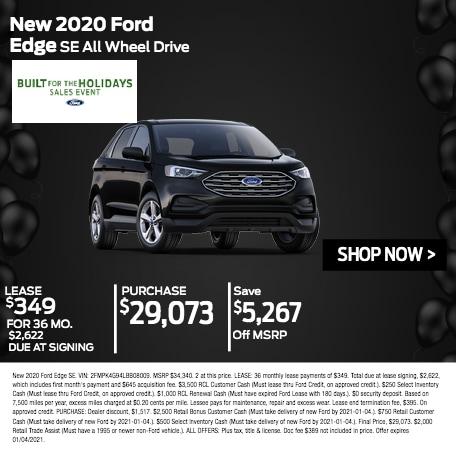 New 2020 Ford Edge SE AWD