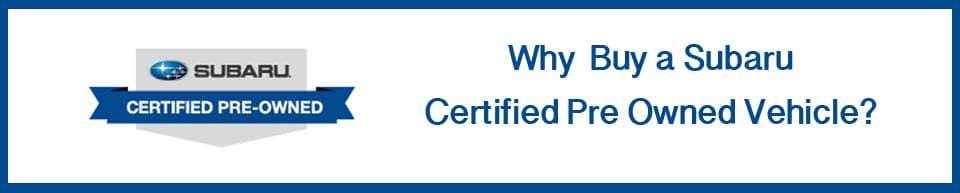 Subaru Certified Pre Owned >> Dealer Certified Or Subaru Certified Pre Owned Subaru Cars For Sale