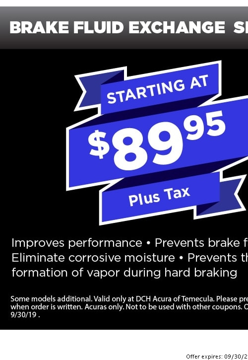 Acura Service Coupons & Discounts in Temecula | Oil Changes