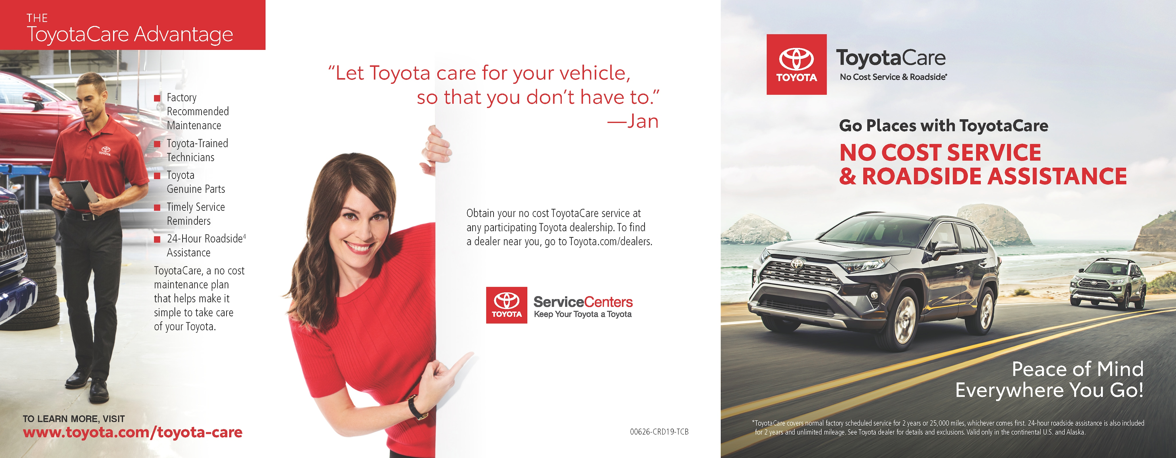 Toyotacare Roadside Assistance Number >> Toyotacare Peace Of Mind At Dch Freehold Toyota