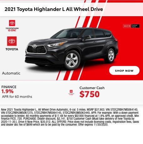 2021 Toyota Highlander L AWD