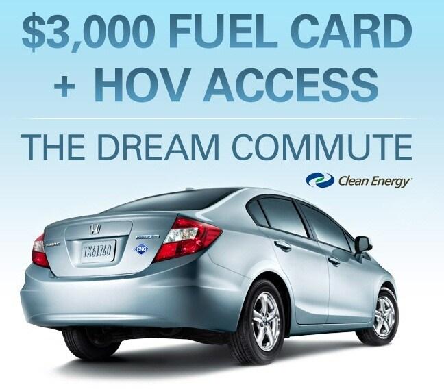 2012 Honda Civic CNG - $3000 Fuel Card Plus HOV Lane