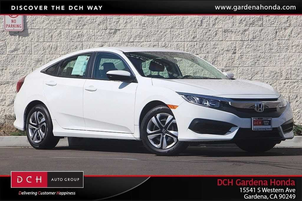 New 2018 Honda Civic LX Sedan Gardena, CA