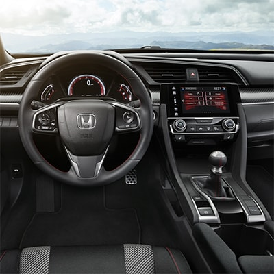 2017 Honda Civic Hatchback Comfortable Interior