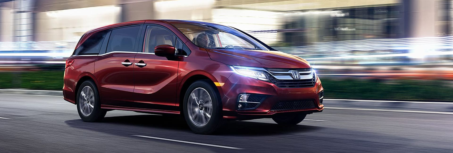 New Honda Odyssey Red Exterior Off Road