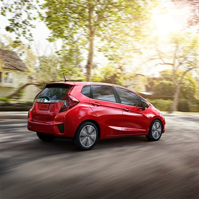 New 2017 Honda Fit Red Exterior Rear Shot