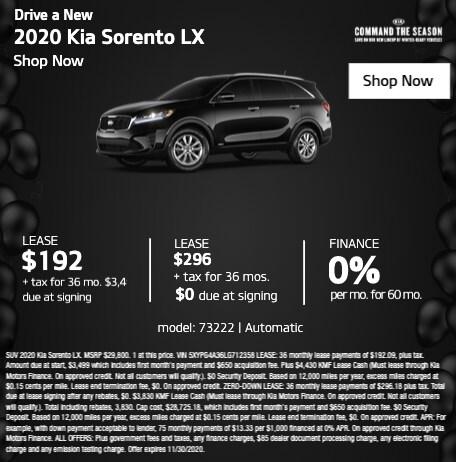 2020 Kia Sorento LX