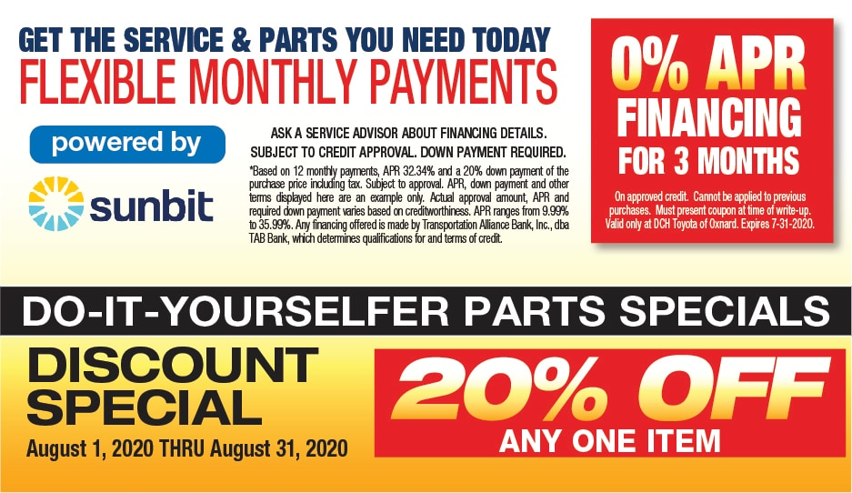Do-It-Yourself Parts Specials