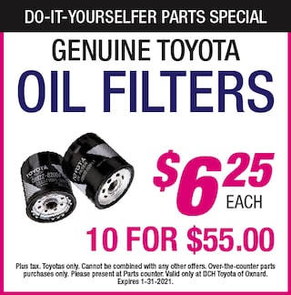 Do-It-Yourselfer Parts Specials - Oil Filters