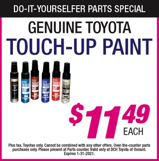 Do-It-Yourselfer Parts Specials - Touch-Up Paint