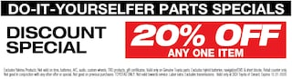 Do-It-Yourselfer Parts Special