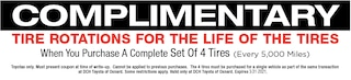 Complimentary Tire Rotations for Life of Tires