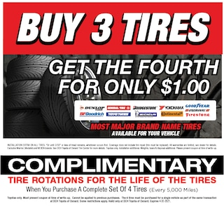 Buy 3 Tires get the Fourth for Only $1