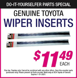 Do-It-Yourselfer Parts Specials - Wiper Inserts