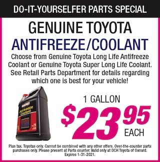 Do-It-Yourselfer Parts Specials - Antifreeze / Coolant