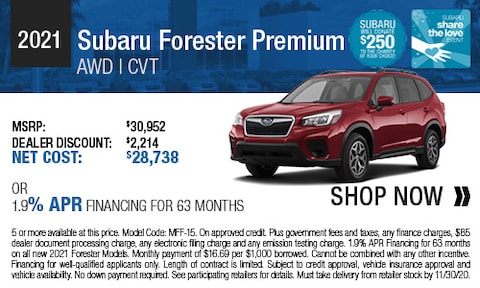 2021 Subaru Forester Premium - Purchase & Finance Offers
