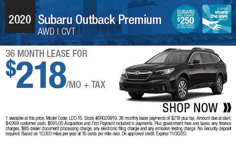 2020 Subaru Outback Premium - Lease Offer