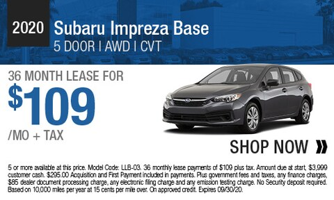 2020 Subaru Impreza Base - Lease Offer