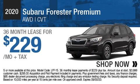 2020 Subaru Forester Premium - Lease Offer