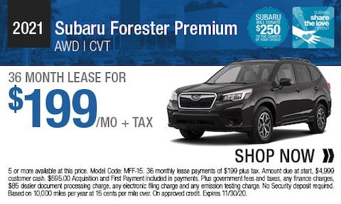 2021 Subaru Forester Premium - Lease Offer