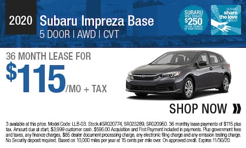 2020 Subaru Impreza Base - Lease Offer