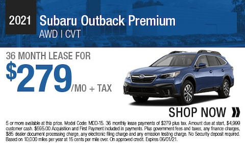 Lease Offer for the 2021 Subaru Outback Premium