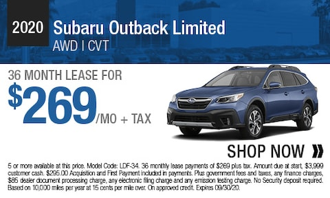 2020 Subaru Outback Limited - Lease Offer