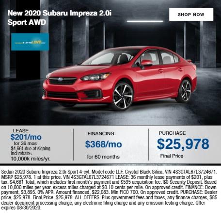 2020 Subaru Impreza 2.0i Sport AWD
